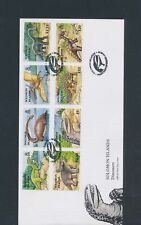 XC25732 Solomon Islands 2006 dinosaurs prehistoric animals FDC's used
