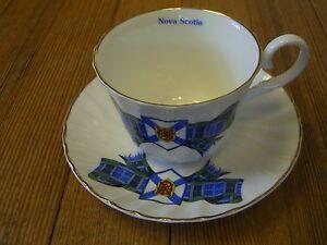 Vintage Royal Stuart English Fine bone china tea cup & Sauce Nova Scotia pattern