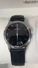 Jaeger LeCoultre Master Ultra Thin, Stainless Steel 145.8.79 S RARE Black Dial