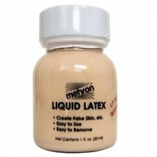 Latex Liquid  Light  Flesh Color Mehron 1 oz Prosthetic Adhesive Special Effects