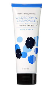 Bath and Body Works Lotion Wildberry Chamomile Cream Natural Tea Oil Full Size