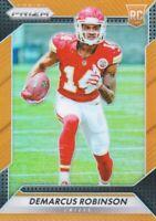 2016 Panini Prizm Prizms Orange 224 Demarcus Robinson /299 Kansas City Chiefs