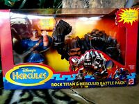 DISNEY HERCULES AND ROCK TITAN BATTLE PACK ACTION FIGURES, NEW, MIB, UNOPENED