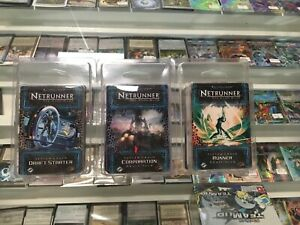 Android Netrunner TCG System Crash COMPLETE Draft Set Starter Corporation Runner