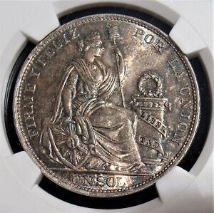 Peru: 1915-FG Silver Sol KM-196.26 NGC MS-63+.