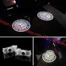 2pc Car Led Lights Door Projector Logo Emblem Kit For Mercedes CLS CLA C207 AMG
