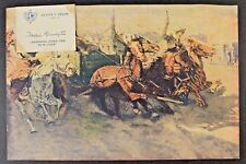 1912 FREDERIC REMINGTON, ARTIST'S PROOF, Book Cadillac Hotel, J.L. Hudsons, Macy