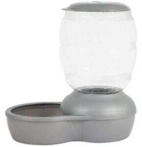 Petmate Replendish Pet Feeder with Microban Pearl Silver Gray