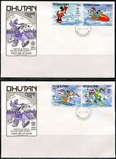 BHUTAN DISNEY CALGARY WINTER OLYMPICS SET & S/S'S MPERF PART I  FIRST DAY COVERS