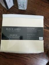 Raymond Waites Cotton Sheets 600 TC King Set, Flat,Fitted + 2 pillow cases-IVORY
