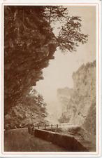 AD Braun, Suisse, Sortie du trou perdu à la Via-Mala, ca.1870, vintage albumen p