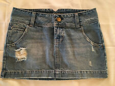 Women's American Eagle Jean Skirt Size 4 Distressed