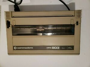 Vintage Commodore Dot Matrix Computer Printer MPS 803 Partially Tested Working