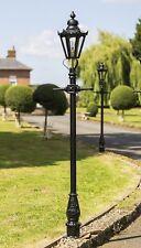 USED Ex-Display 2.3m Black Hexagonal Victorian Garden Lamp Post or Street Light