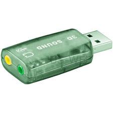 137157 Wentronic Goobay USB 2.0 Soundkarte Transparent - zum Anschluss von Mikr