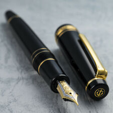 "SAILOR 1911 Progear ""President Black"" Demonstrator 21K Gold F Nib Fountain Pen"