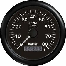 TACHOMETER  & DIGITAL HOURMETER  8000 RPM GAUGE OUTBOARD BOAT YAMAHA TACHO