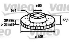 VALEO Disco de freno (x2) Antes 305mm ventilado RENAULT TRAFIC OPEL 186868