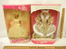 Vintage 1992 Romantic Bride Barbie Doll +1995 Winter Fantasy Barbie Mattel NIB