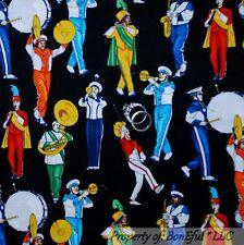 BonEful Fabric FQ Cotton Quilt School Music US Marching Band Uniform Kid Teacher