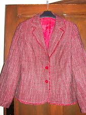 Red & Black Wool Mix Jacket From Bhs Size 14 BNWOT