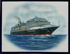 Original Art Work .ms NIEUW AMSTERDAM...Cruise Ship... HAL  2010