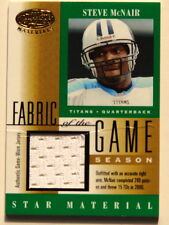 STEVE McNAIR Tennesee Titans 2001 Leaf Certified Fabric Of The Game Card FG-105