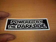 POWERED BY THE DARKSIDE star wars rogue one bike motorcycle funny silly sticker