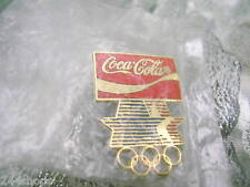 COCA COLA - COCA COLA OLYMPIC RING PIN - STARS ON BOTTOM