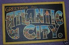 GREETINGS FROM ATLANTIC CITY, NJ POSTCARD 1948