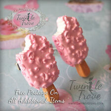 Sweet Chocolate Ice Cream Lolly Stud Earrings. Cute, Kawaii & Kitsch