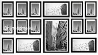 15Pcs Multi Photo Picture Frame Photo Frame Wall Hang Collage Set In Black Color