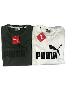 Puma Women's Crew Neck Long Sleeve White or Thyme