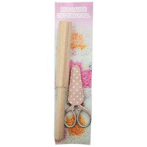 2pcs/set Wooden Latch Hook Yarn Cutter Tool for Rug Yarn Tool for Yarn Cutdi*wk
