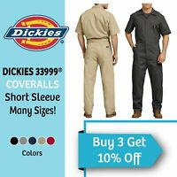 Dickies Men's Short Sleeve Coveralls Comfort Elastic Waist Work Men's Big & Tall