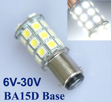 White 1157 BA15D 5050 SMD 27 LED Tail Anchor Reverse Light Lamp Bulb 6V/12V/24V