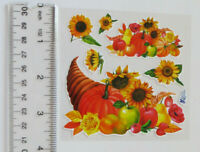 Vintage Current Thanksgiving Fall Harvest stickers seals Morehead Inc
