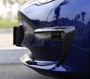 Tesla Model 3 - Wind Knife Fog Lamp Frame Carbon Fiber Spoiler Sports Decoration