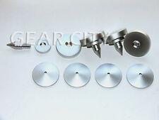 nis04 4x 35mm Silver Speaker Spike Isolation Feet Cone Pad Turntable Amp HiFi