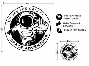 2pcs Explore the Galaxy - Space Adventure Vinyl Sticker Camper Skate Van Decal