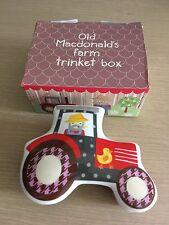 BNIB New Old MacDonald's Farm Trinket Box - Fine China Tractor Shaped