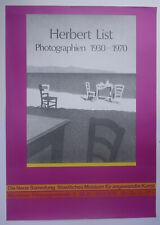 Plakat Poster - Ausstellung Herbert List - 1976 - Photograpie - München