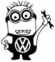 pegatina vw volkswagen minion  racing VINYL STICKER