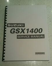 SUZUKI GSX1400 K2 K3 K4 K5 WORKSHOP SERVICE MANUAL REPRINTED COMB BOUND