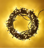 50 LED Warm White String Fairy Lights Battery Operated Timer 8 Modes Xmas Decor