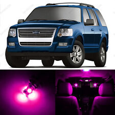 11 x Pink/Purple LED Interior Light Package For 2006 - 2010 Ford Explorer