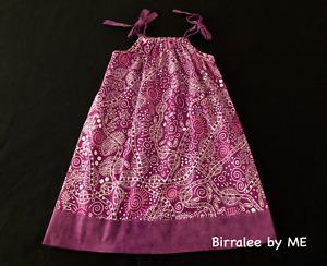 Pretty Slip Dress Handmade by Birralee by ME using Aboriginal fabric.Size 3