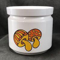 Vintage Fred Roberts Porcelain Mushroom Container w/ Lid Japan MCM RARE 60s 70s