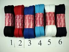 NEW 45 INCH WIDE SHOELACE COLORS SHOE LACE TENNIS SOCCER SOFTBALL FOOTBALL SKATE