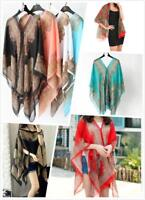 AU SELLER Oversize Chiffon Kaftan Top Cape Shawl Beach Kimono Cover UP sw093